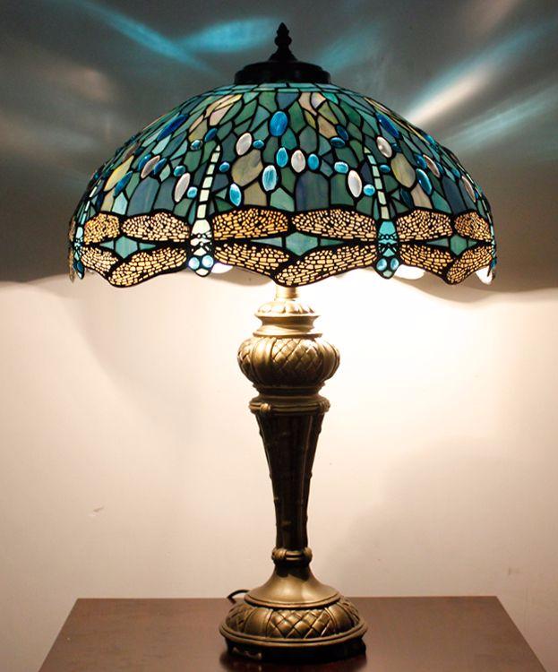 Nerja 16t03 18inch Dragonfly Tiffany Table Lamp Tiffany Table