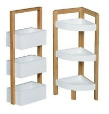 3 Tier Bambus Floor Standing Bathroom Shower Caddy Rack Storage