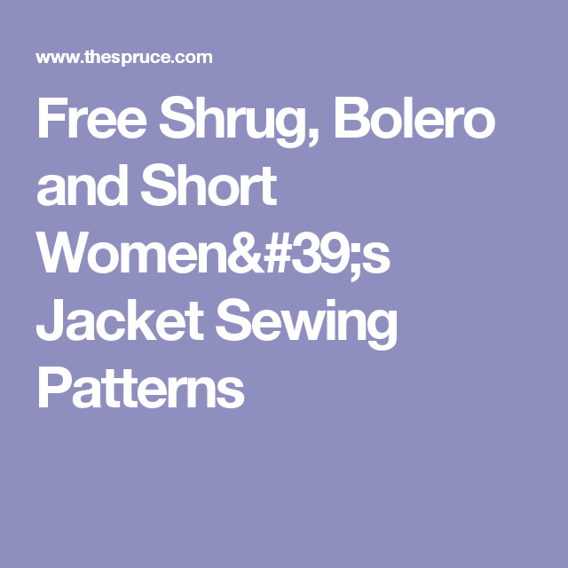 Free Patterns to Sew Boleros and Shrugs | sewing | Pinterest