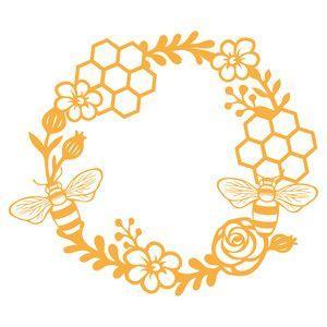 Photo of Silhouette Design Store: honey bee wreath