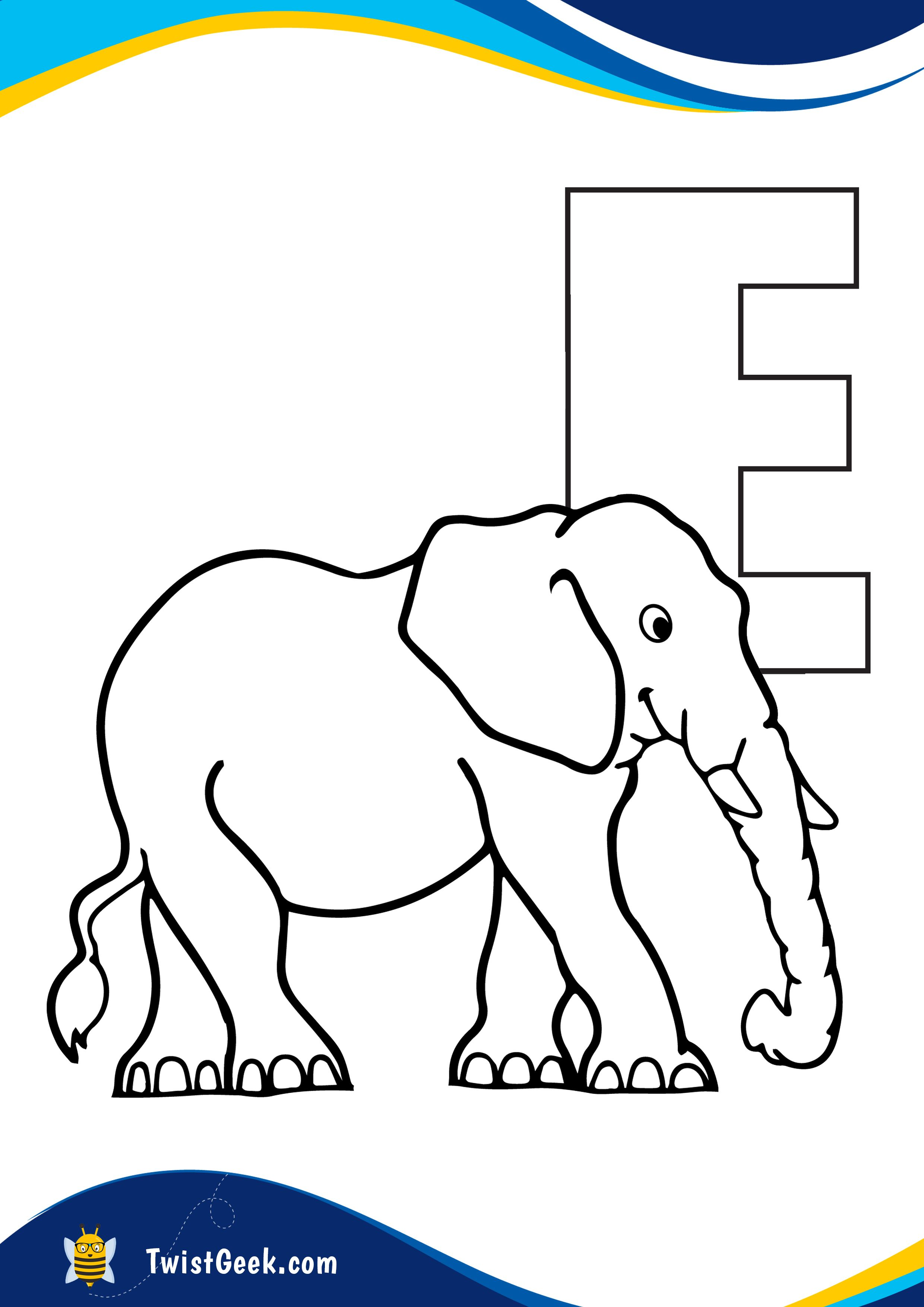 Letter E Coloring Pages I