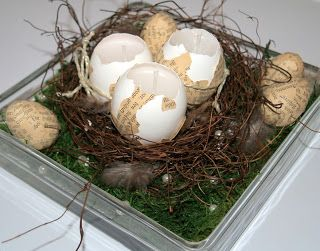 egg-candles for easter deco