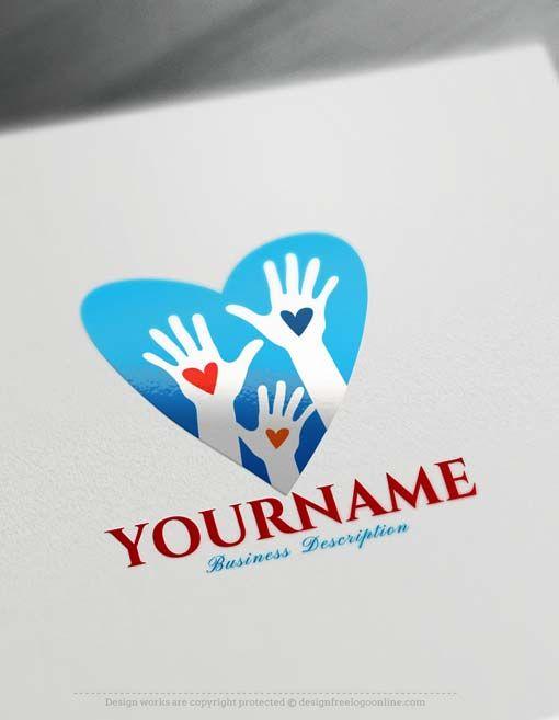 Free Logo Creator Make - Heart Hands Logo Design Free logo creator - work schedule creator free
