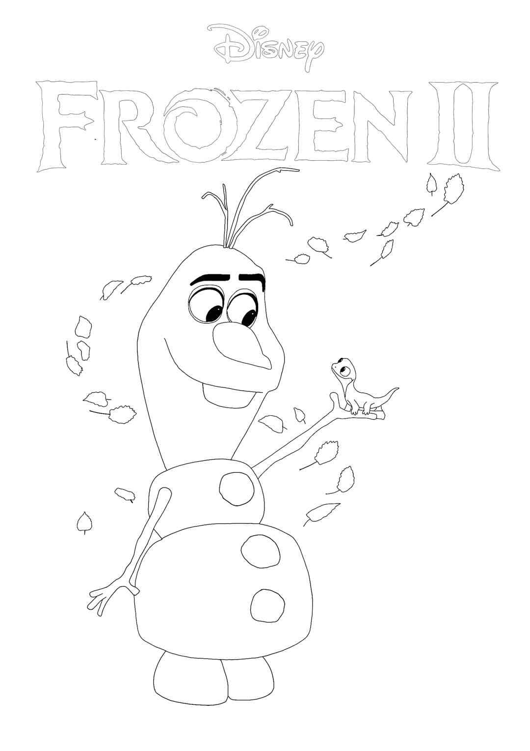 Frozen 23 - Olaf and Bruni coloring page  Frozen coloring, Disney