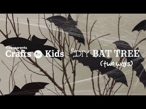 easy bat trees halloween crafts for kids pbs parents youtube
