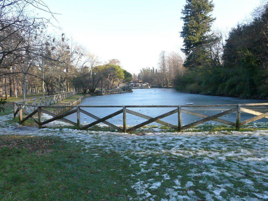 Bologna i giardini margherita laghetto ghiacciato emilia romagna