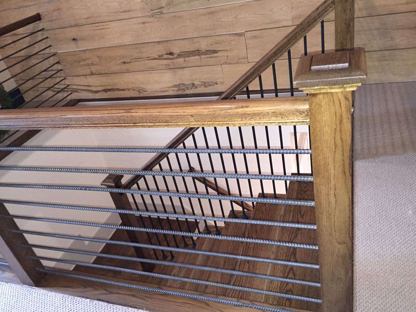 Best Rebar Railing … Rustic Stairs Indoor Railing Cabin 400 x 300