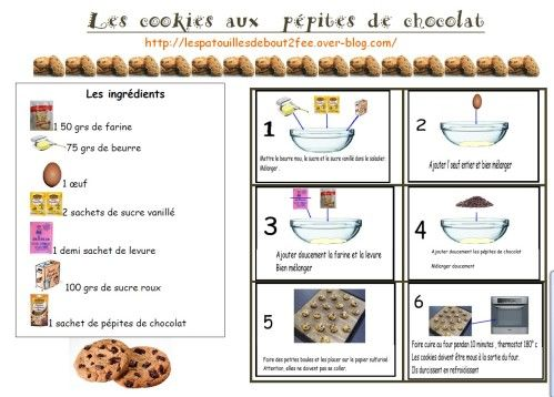 Cookies au chocolat recette pour la classe pinterest for Cuisine americaine en anglais