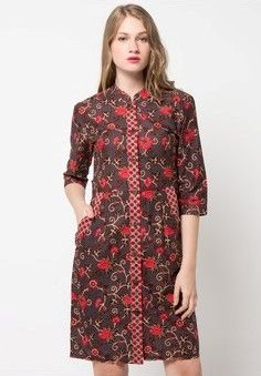 35 Model Dress Batik Modern Masa Kini 2018 fa35cd93bf