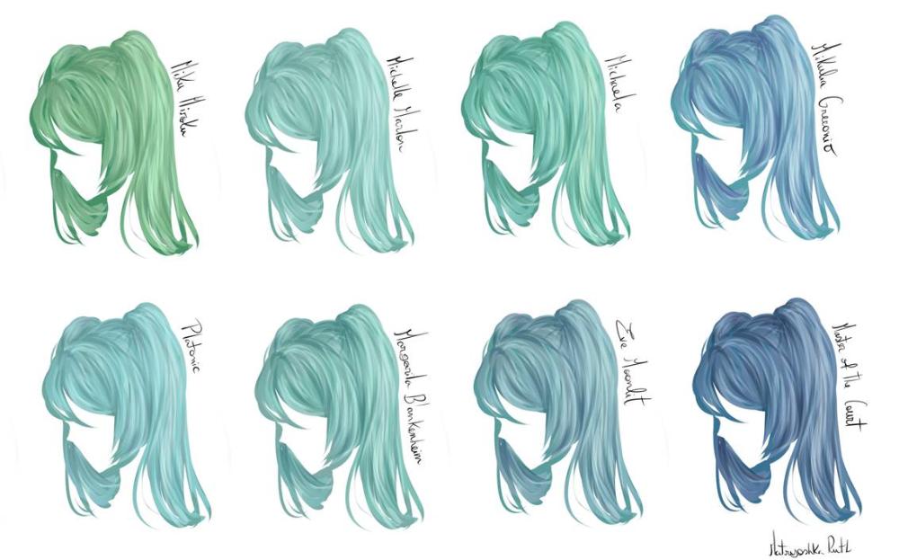 E C Hatsune Miku Color Hair Color Palette By Matryoshka Ruth On Deviantart Hatsune Miku Color Palette Hair Color