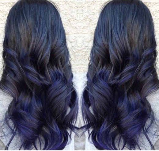 Black Hair Color With Blue Tint Photo 6