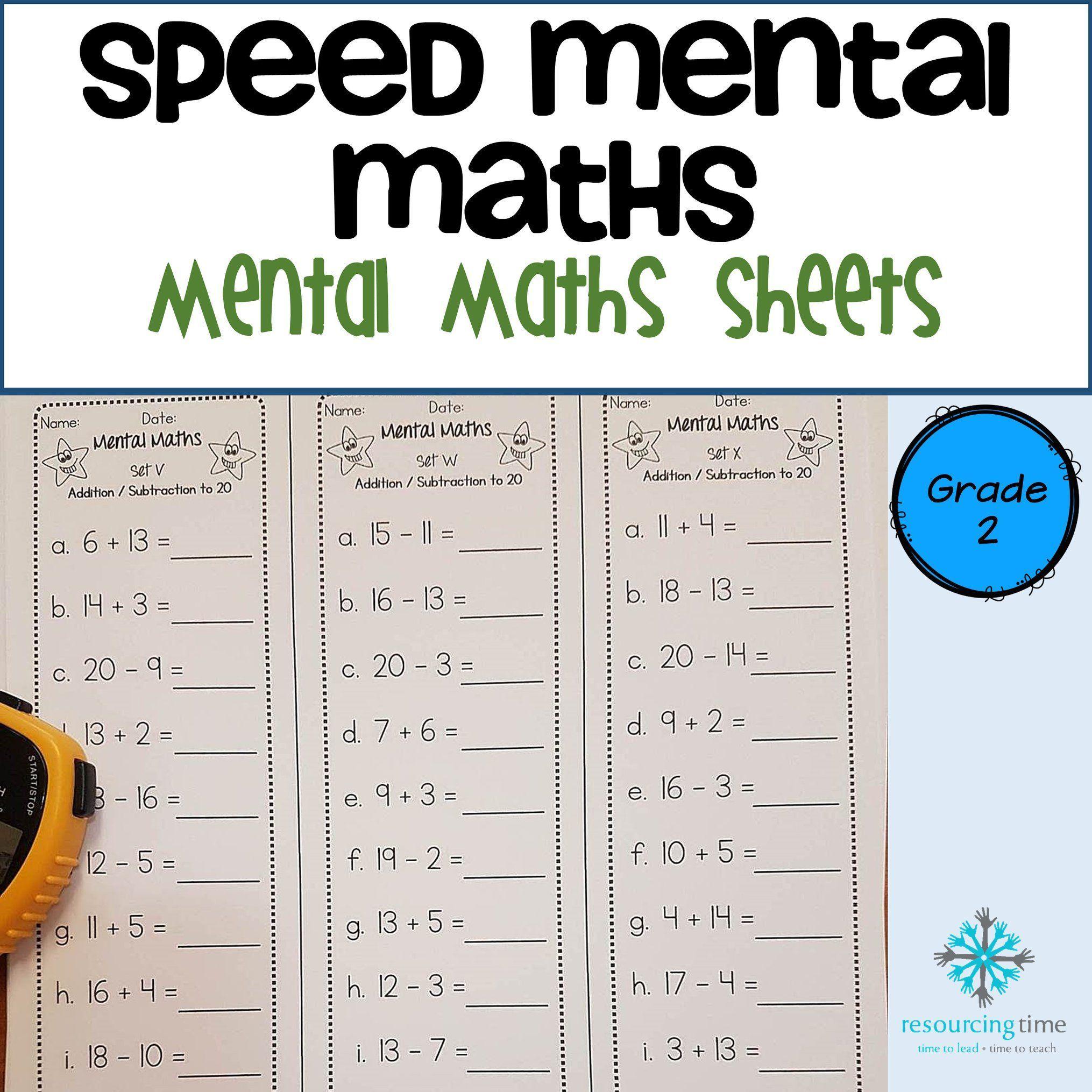 Year 2 Speed Mental Maths Australian Curriculum Mental Math Math Mental Math Strategies Mental math addition activities