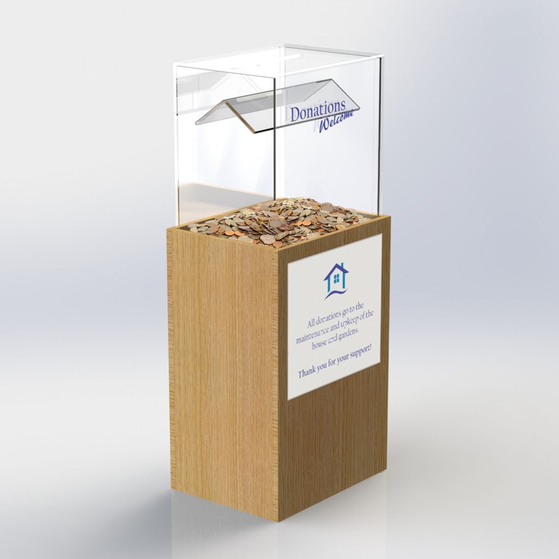 Donations Box (With images) | Donation box, Collection box ...
