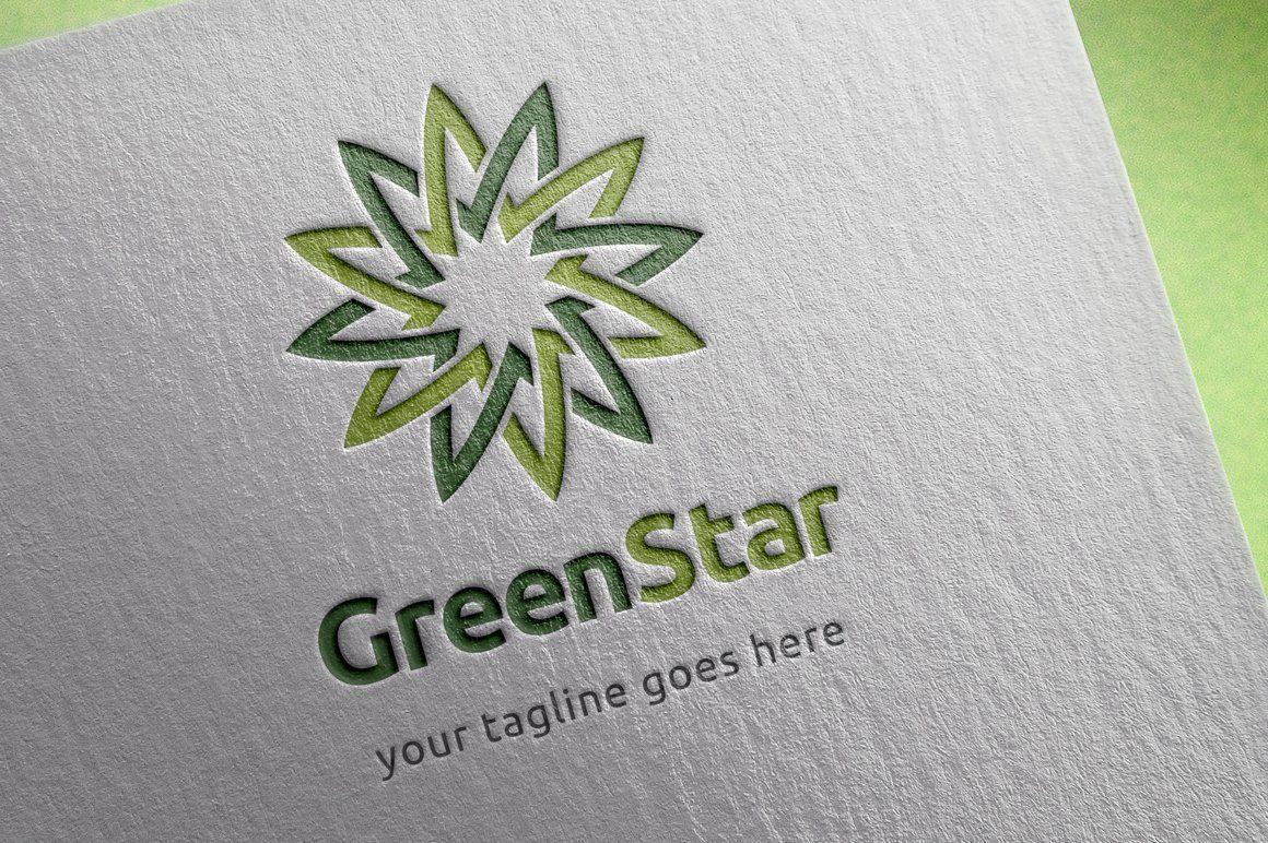 Green star logo template | Logo templates, Star logo ...