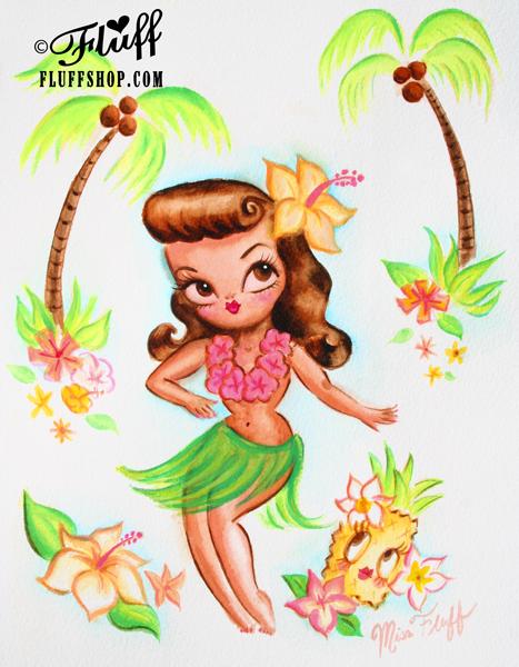♥ Hula Baby Doll ♥ by Miss Fluff original now available! http://cgi.ebay.com/ws/eBayISAPI.dll?ViewItem&item=171269483895 #hawaii #hawaii Kitsch #retro