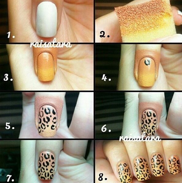 Easy Diy Nail Art Design Tutorial With Pictures Nail Art Diy Nail Art For Beginners Leopard Nail Designs