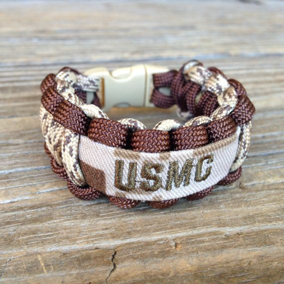Custom Paracord Bracelet With Name Tape Army By Cadetcouture