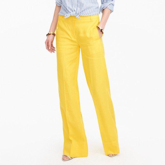 87242e5bd4 Full-length linen pant : Women Wide-Leg | J.Crew | Capsule wardrobe ...