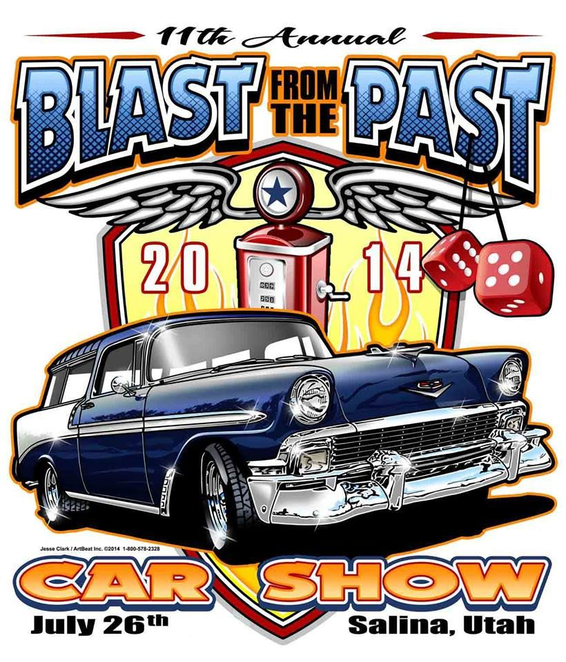 Blast from the Past Car Show in Salina, Utah. July 25