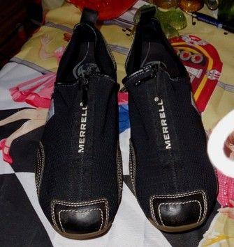 81538dac Women's Merrell Barrado Size 9.5 Zip Top Slip On Mesh Leather Trim ...