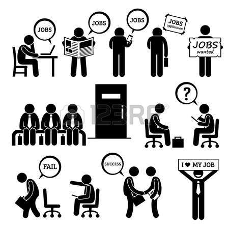 Stock Vector Job employment, Stick figures, Pictogram