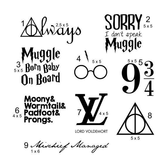 Harry Potter Theme Vinyl Decals Letras De Disney Letras Disenos De Unas