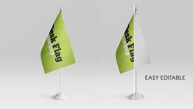 Desk Flag Free Psd Mock Ups In 2020 Free Mockup Mockup Free Psd Mockup Free Download