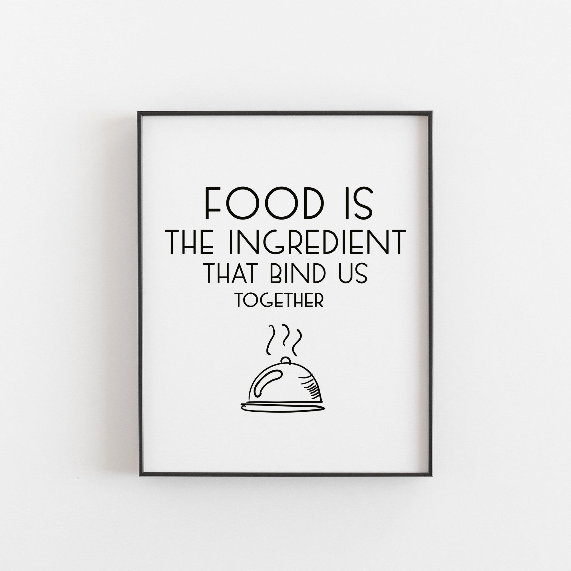 Food Print Soup Funny Quote Restaurant Decor Kitchen Art Cook Gift Typography Ben Franklin Foodie Eye Chart Print Heart