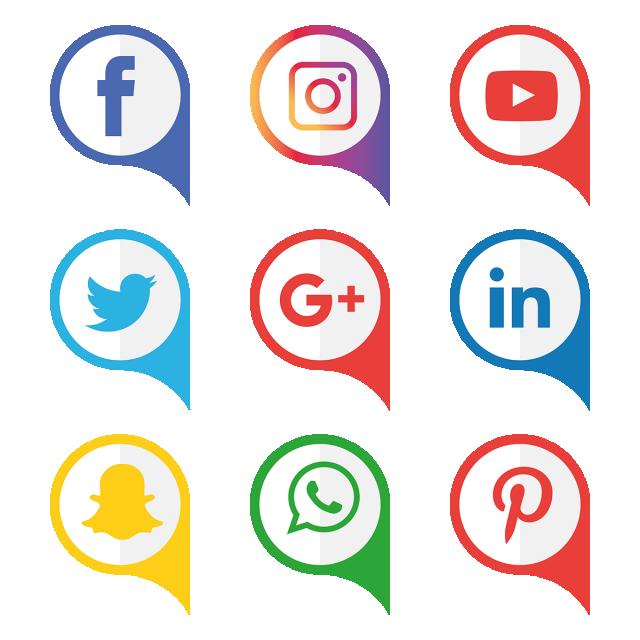 مجموعة أيقونات وسائل التواصل الاجتماعي وسائل التواصل الاجتماعي المرسومة الرموز الاجتماعية الأيقونات وسائل الإعلام Png والمتجهات للتحميل مجانا Icon Set Vector Media Icon Social Media Icons