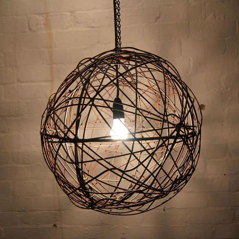 Fence wire ball light fitting | Ball lights, Light fittings and Lights
