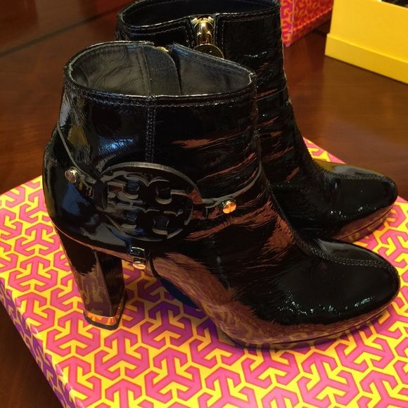 b9461b2d1a61 Tory Burch Bootie Whitney Bootie-Naplack size 8.5. Worn numerous times but  well taken care of Tory Burch Shoes