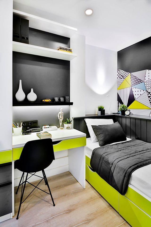 Dormitory Room Interior Design #rendahelindesign #design #decor #decoration  #interior #interiordesign. RaumgestaltungRaumplaner