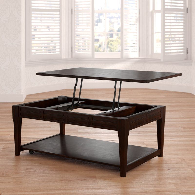 Sayre Lift Top Coffee Table With Storage Coffee Table With