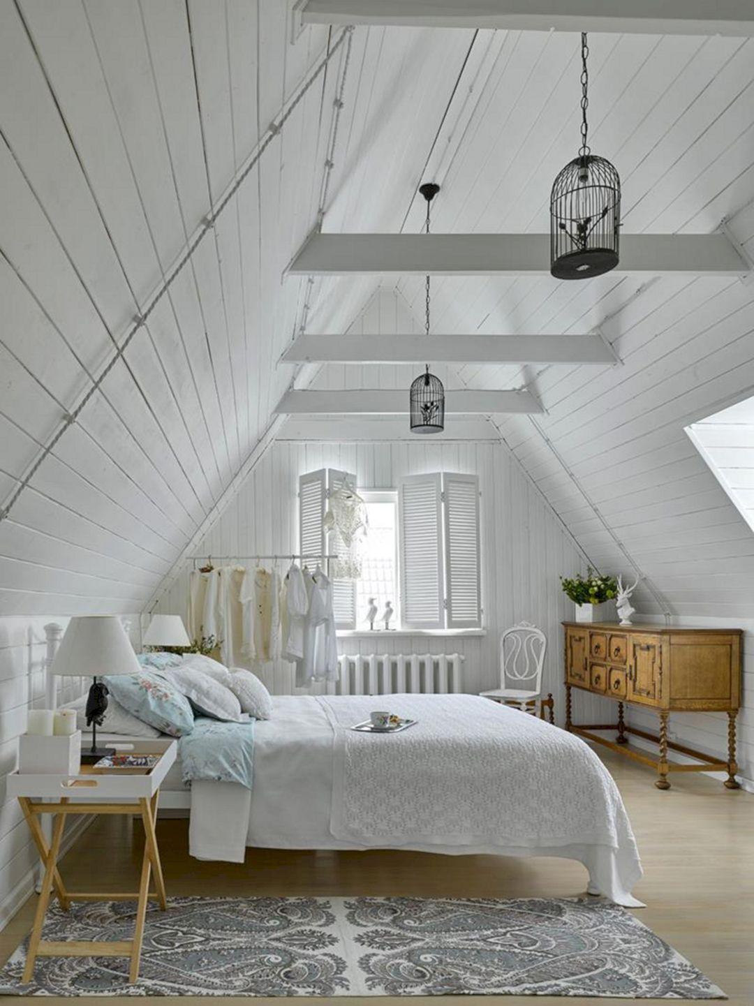 35 Gorgeous Attic Master Bedroom Ideas On A Budget Freshouz Com Chic Bedroom Design Attic Master Bedroom Shabby Chic Decor Bedroom