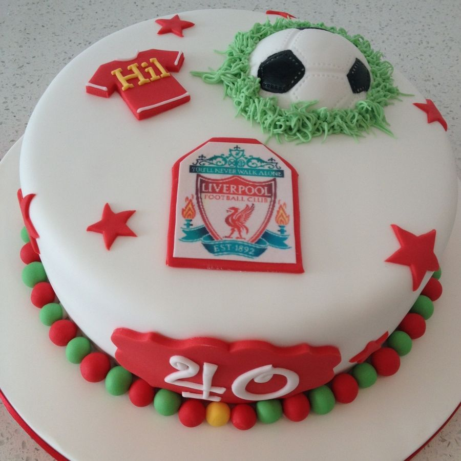 Liverpool FC Themed Football Cake Football Pinterest - Football cakes for birthdays