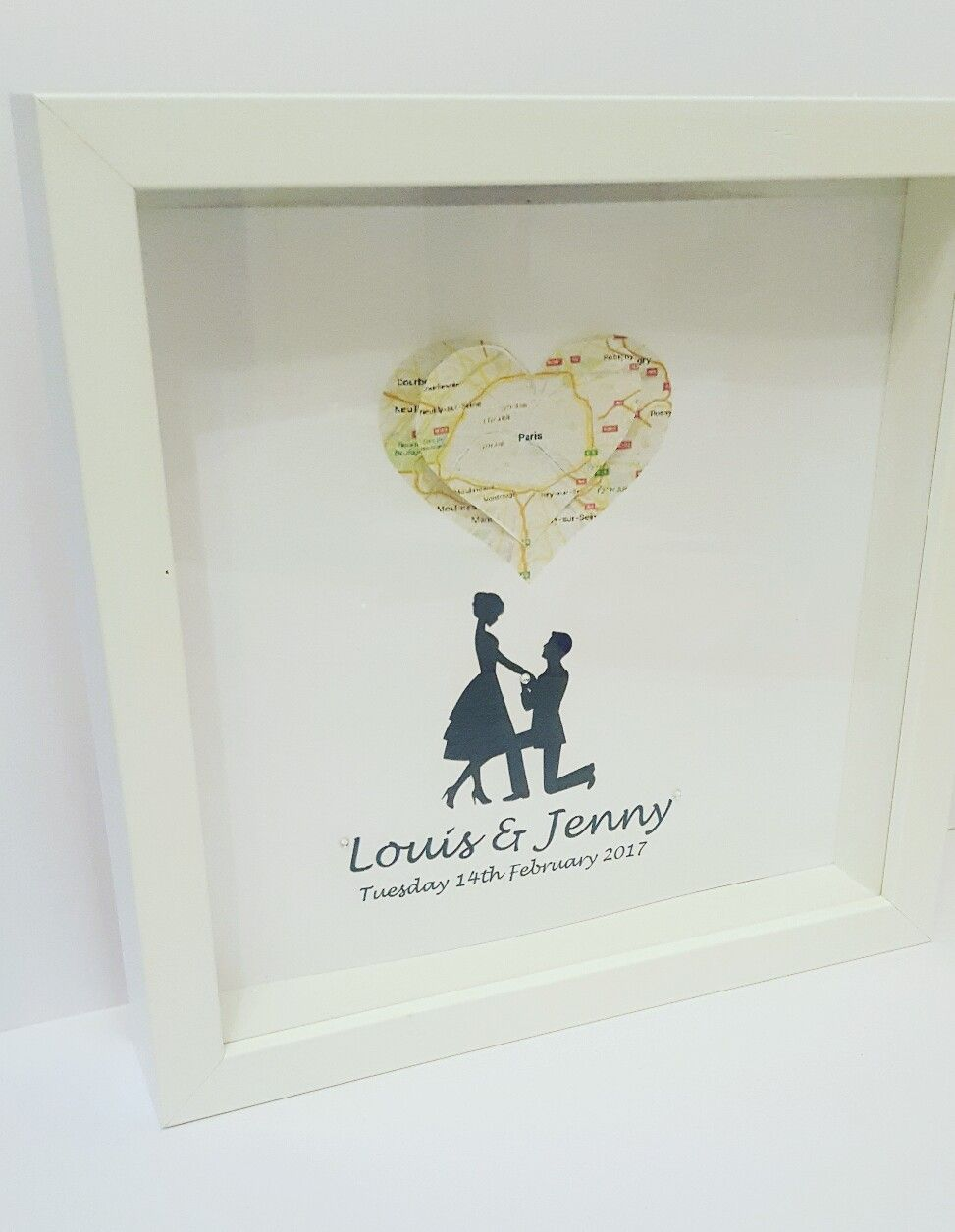 Wedding frame personalised wall art gift ideas frame wedding favour ...