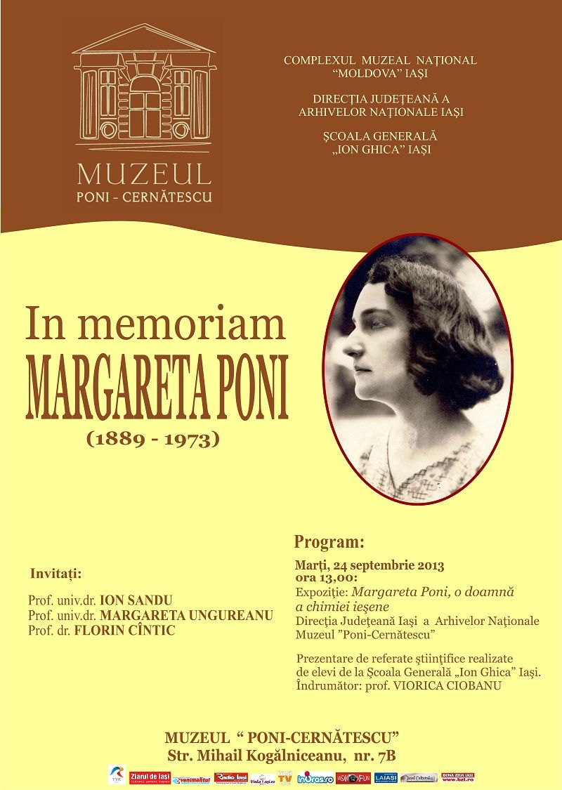 In Memoriam Margareta Poni Chimie, Școală