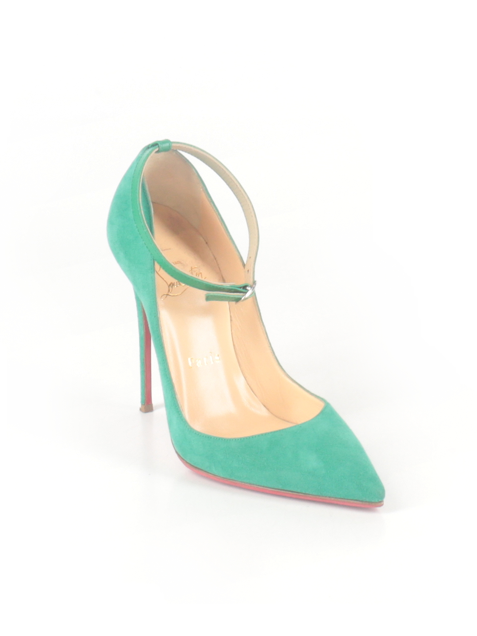 meet 7d9ab 47e6f Christian Louboutin Heels: Size 5 1/2 Teal Women's Clothing ...