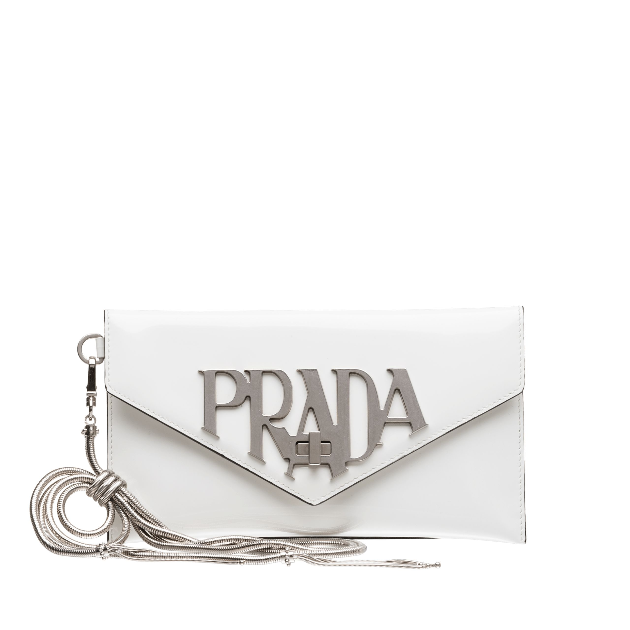 5764736afcb6 PRADA | Leather Clutch Bag | $920 | Elegant clutch bags in luminous brushed  leather with