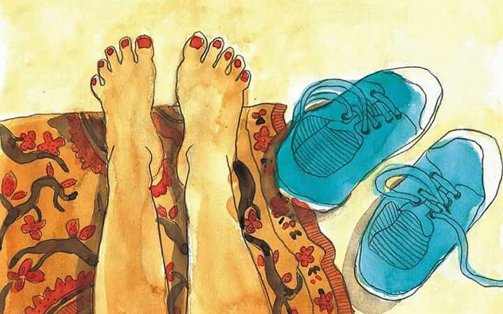 Treat your #feet right ;) #CalzeGMart Credits: Olga Molina Illustration