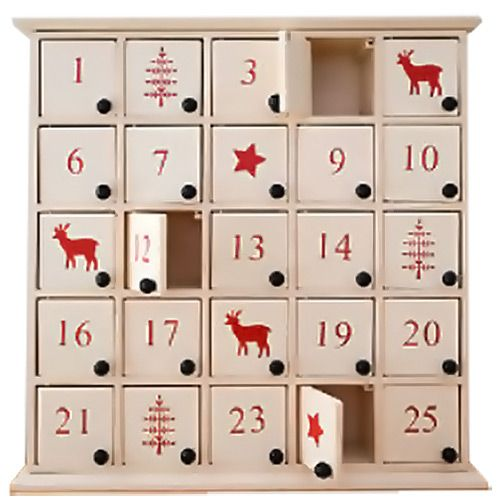 White Wooden Nordic Advent Calendar Box Party Supplies Party Ark Advent Calendar Boxes Wooden Advent Calendar Advent