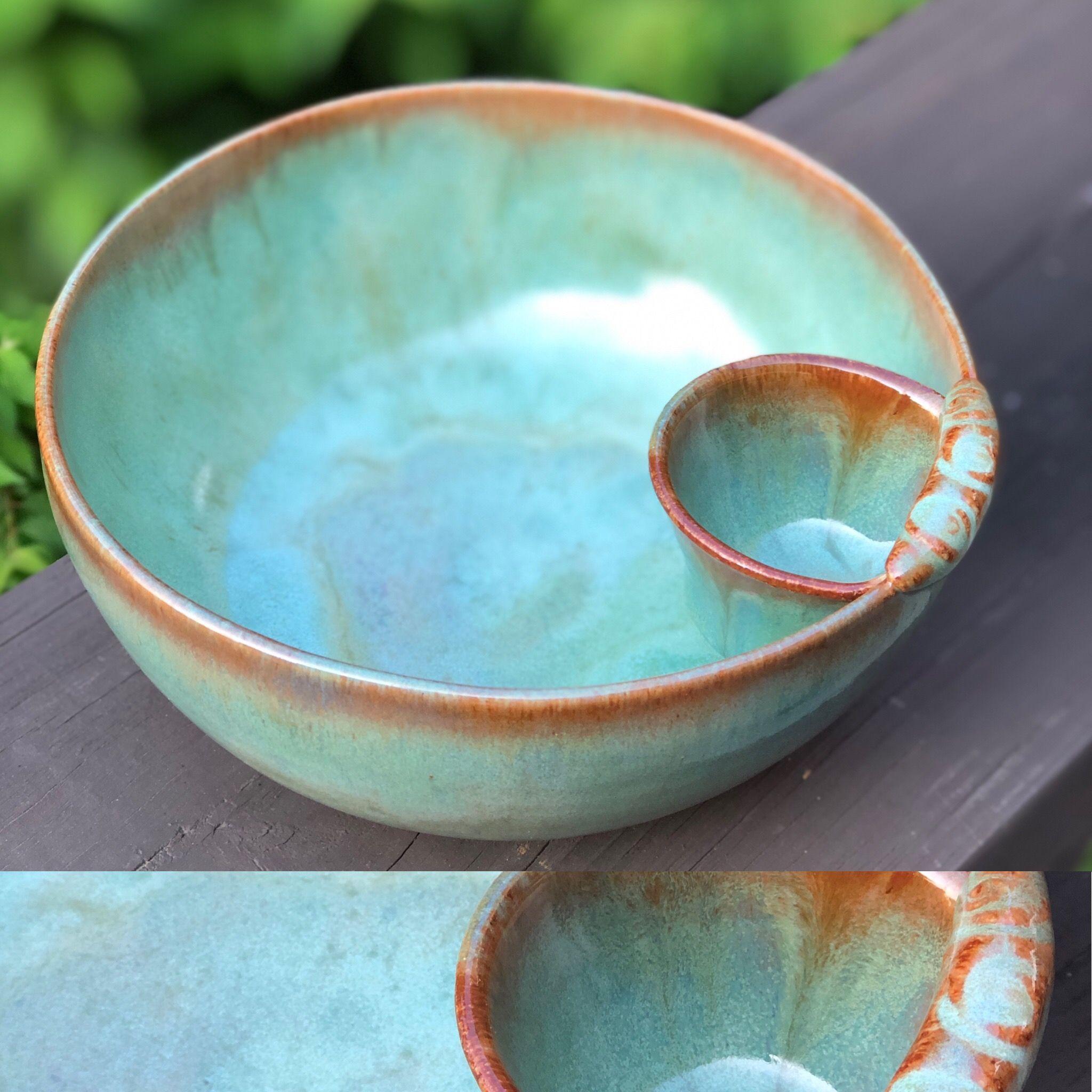 Larrabee Ceramics Chip and Dip Platter Brown//Multi