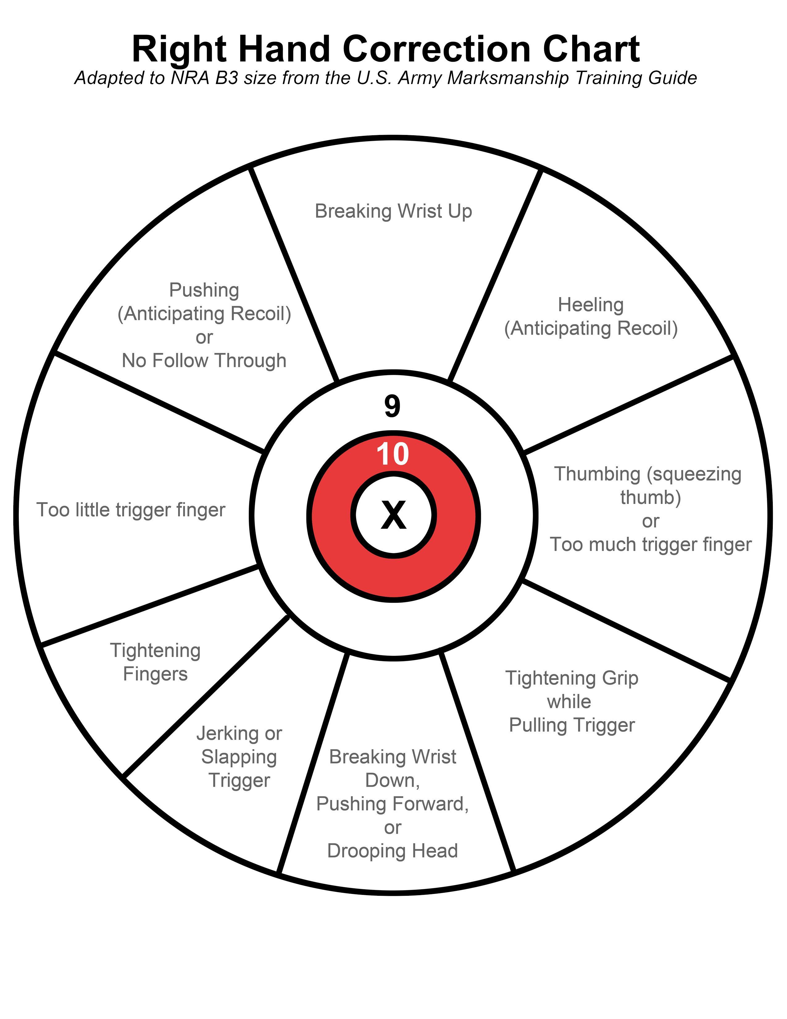 Shot Placement Diagram Target