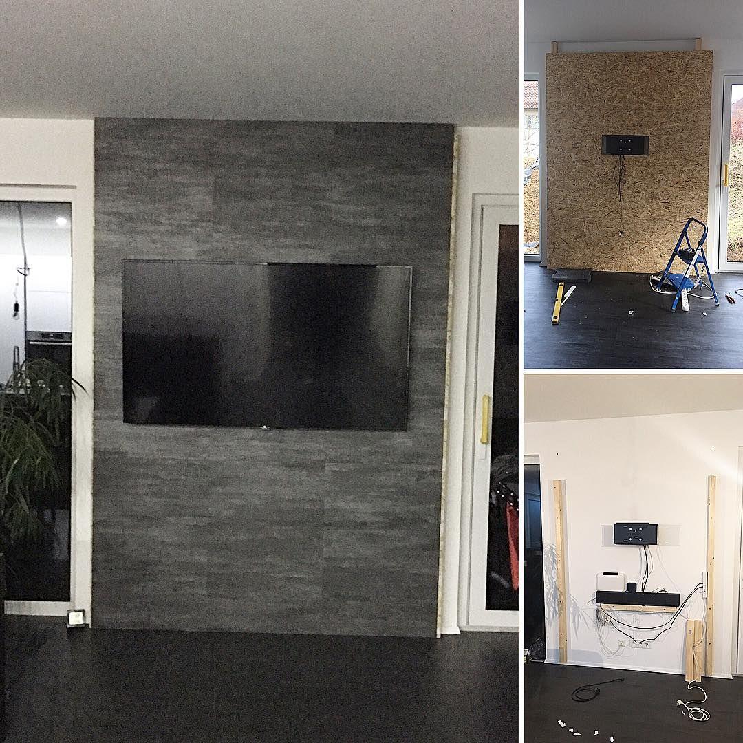 Gestern Mit Dem Projekt Tv Wand Fast Fertig Geworden Die Abschlussleisten Fehlen Noch Und Unter Den Fernseher Kommt Tv Wand Bauen Tv Wand Wohnzimmer Tv Wand
