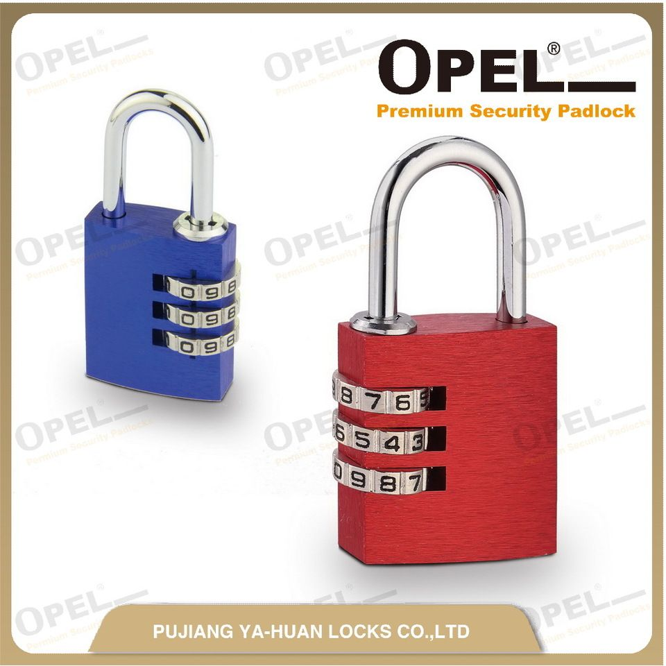 3/4 Digit Aluminium number combination/Coded Padlock for luggage,Gym