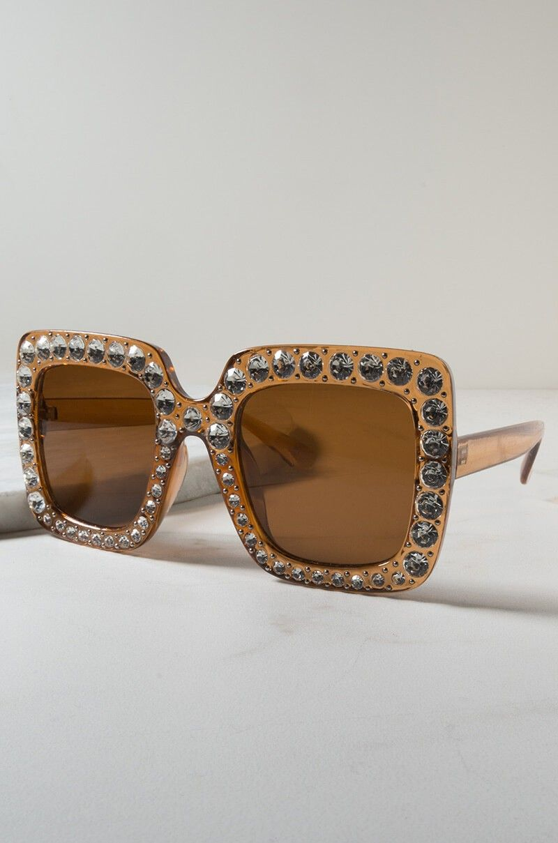 Garage Luxe - Square Brown/Taupe Sunglasses