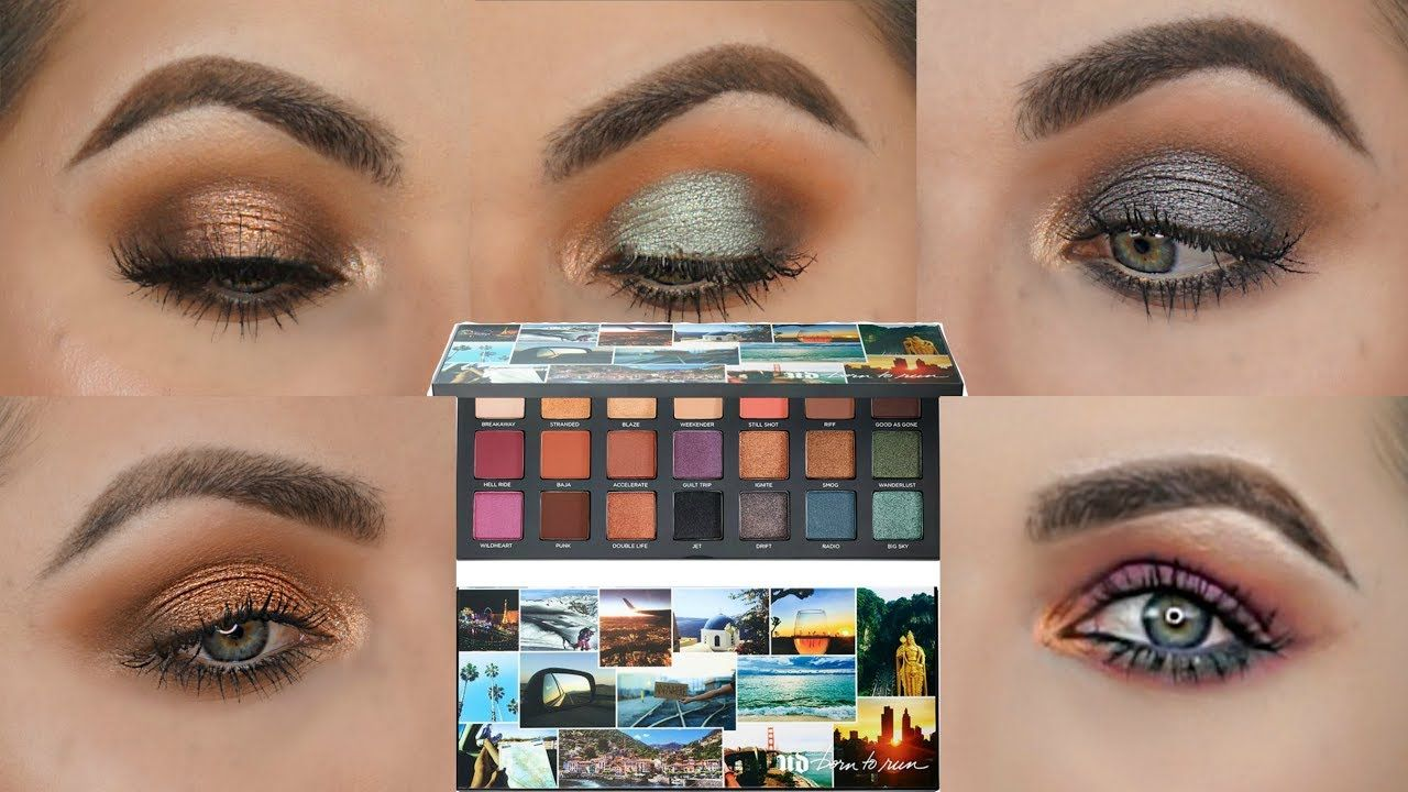 5 Looks 1 Palette Five Eye Looks With The Born To Run Palette By