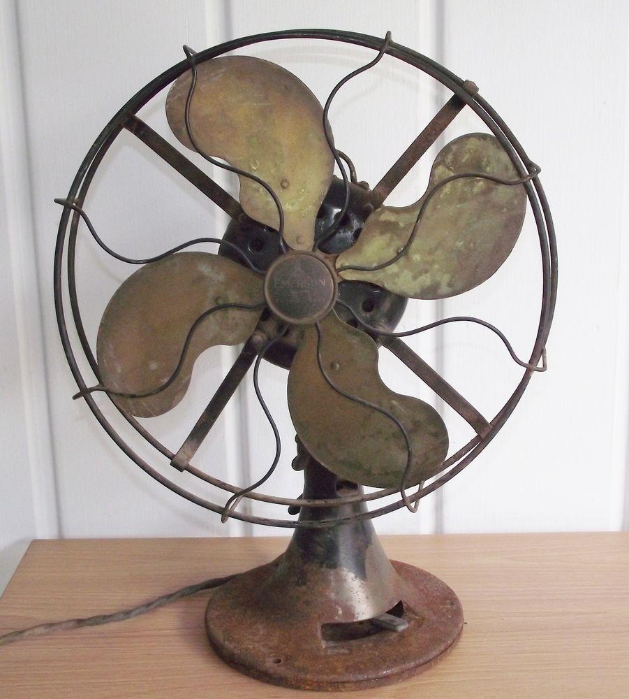 Emerson Desk Fan : Antique emerson electric desk fan hostgarcia