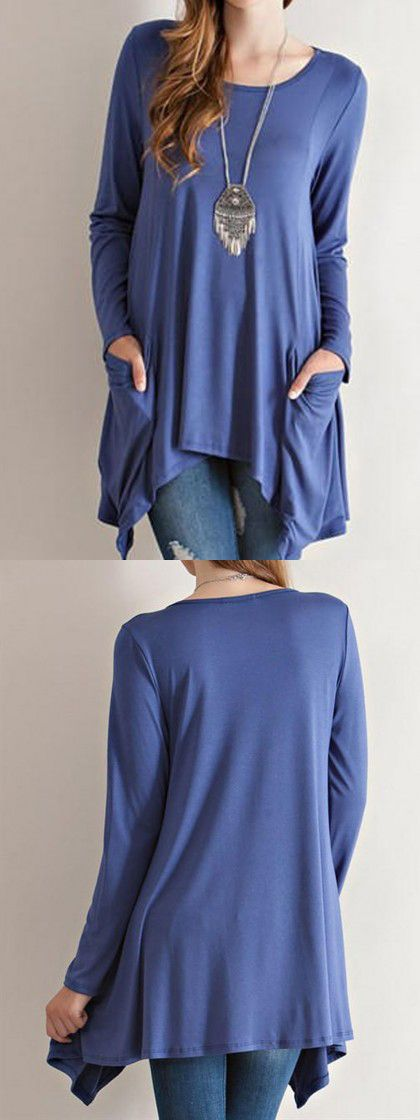 Love this causal t-shirt to wear in the fall day. Choose one on CHOIES.COM.