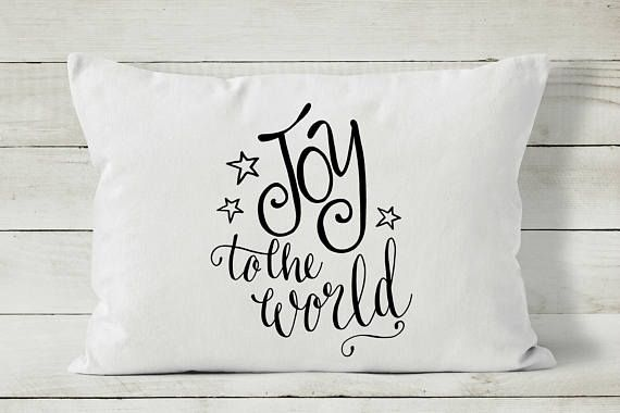 Christmas Pillow Cover Joy to the World Christmas Pillow